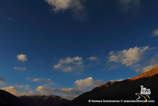 Evening sky at Tangtse