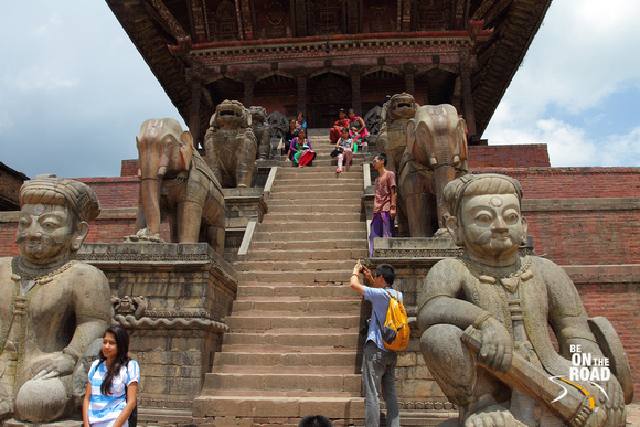 Four tiered protection for Bhaktapur Temple