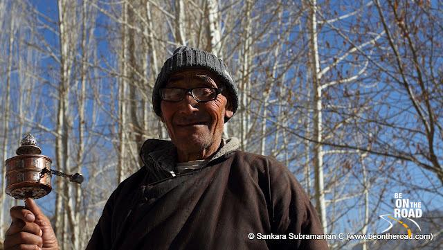 An elderly Buddhist