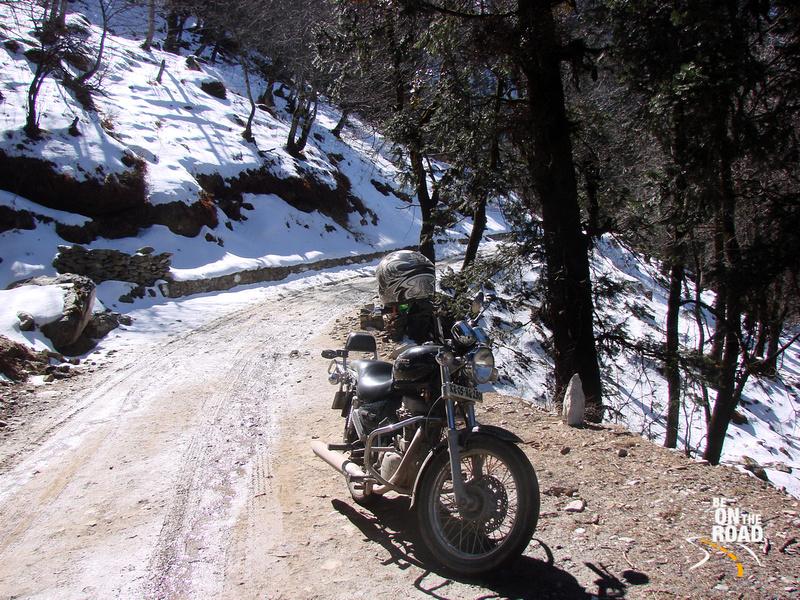 On top of the impassable Jalori pass, Himachal Pradesh, India