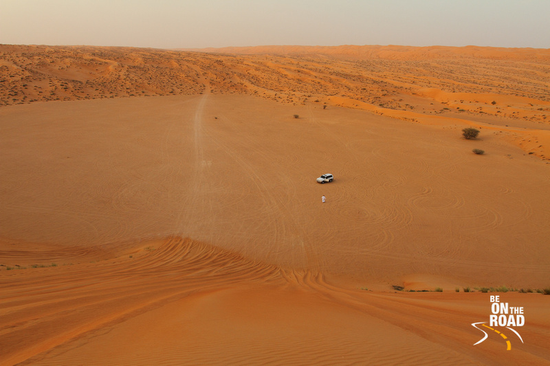 The sensational Wahiba Sands of Oman at sunset
