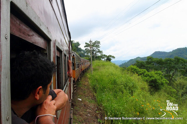 Enjoying the view as the train meanders its way through the central highlands