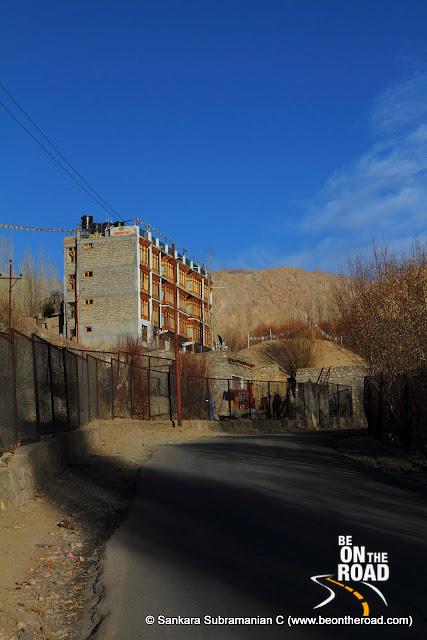 Road from Shanti Stupa to Upper Changspa