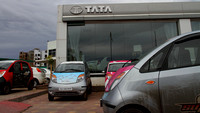 Flagging off from the Tata Motors Showroom at Ahmedabad