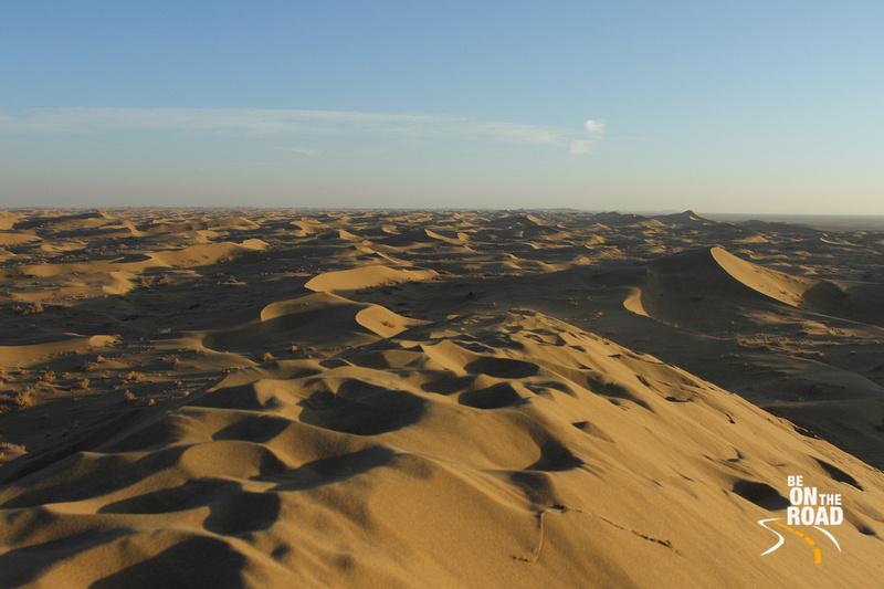 Rolling sand dunes of Maranjab Desert, Iran