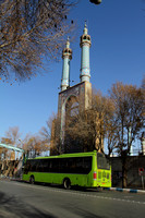 The minarets of one of Yazd's beautiful looking mosques
