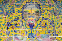 Intricate Mural Tile Designs at Tehran's Golistan Palace