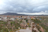 Uchisar town as seen from the top of Uchisar Castle
