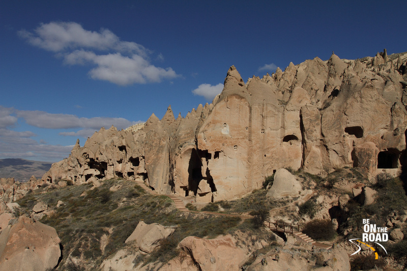 Historic houses inside these rocks, Zelve, Cappadocia