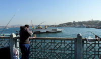 Fishing at Galata Bridge - A favorite amongst Istanbul locals