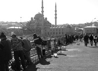 Fishing Scene on Galata Bridge, Istanbul