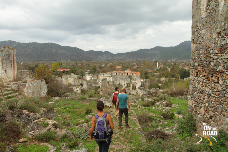 Exploring the ghost town of Kayakoy near Fethiye, Turkey