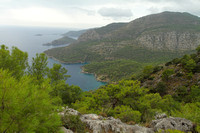 Scenic views on the hike from Kayakoy to Oludeniz