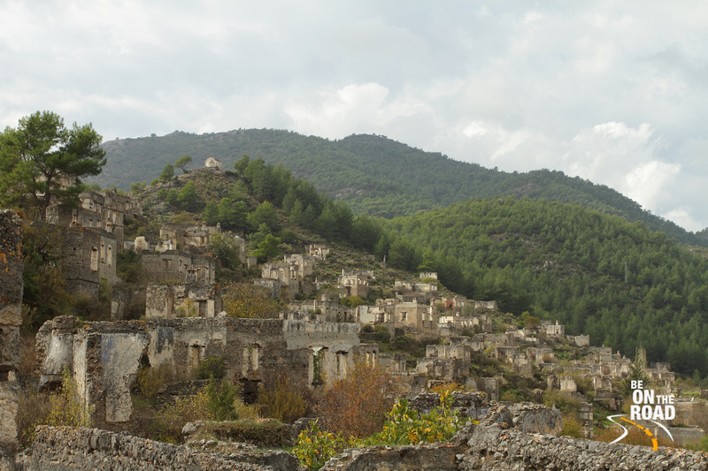 The abandoned city of Kayakoy on the southern coast of Turkey