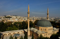 Sanliurfa city and mosque as seen from the castle