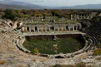 Lovely amphitheater of Aphrodisias, Turkey