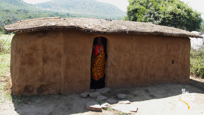 A Traditional Maasai Hut made up of mud, sticks, animal dung and plastic for waterproofing