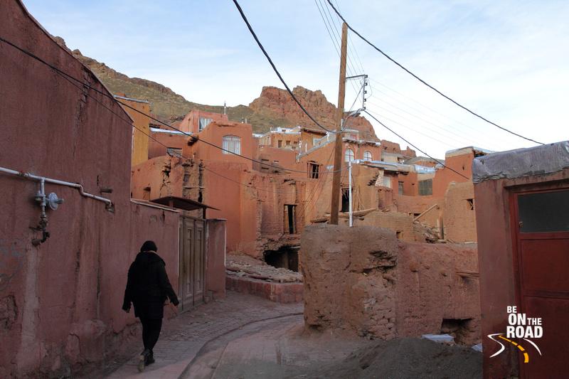 Walking through the brick lanes of Abyaneh, Iran