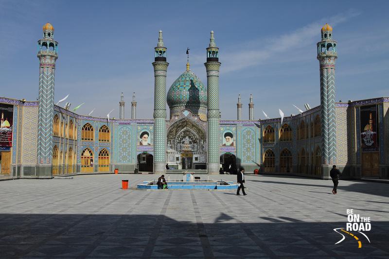 Stunning Blue Mosque near Kashan, Iran
