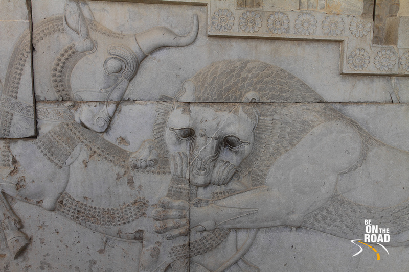 Persepolis bas-relief - bull fighting lion