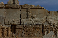 Symbol of Zoroastrianism and the Persian Empire at Persepolis, Iran