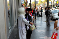 Movie characters on the streets of Hollywood, Los Angeles