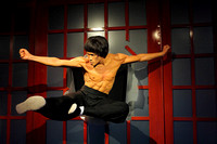 Bruce Lee in action at Madame Tussad's Wax Museum, Los Angeles