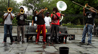 Another street jazz band of New Orleans
