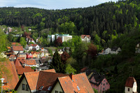 Scenic mountain town of Triberg, Black Forest, Germany