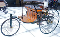 World's first automobile at Mercedes Benz Museum, Stuttgart