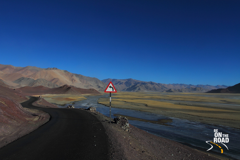The Army road that leads to Hanle in the Changthang Cold Desert