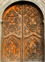 San Augustin Church door, Manila