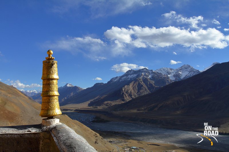 Picturesque Himalayas and the Spiti Valley as seen from Ki Monastery