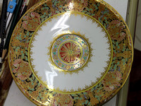 Gorgeous Benjarong Plate - a gift is given by the Thailand king to the heads of state from many countries