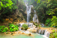 Gorgeous Kuang Xi waterfall near Luang Prabang, Laos
