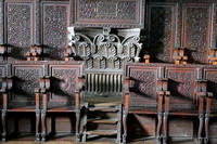 Classical and Intricately carved furniture at St Augustine Church, Manila, Philippines