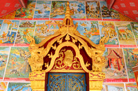 The temple with Ramayana beliefs at Muang Khua, Laos