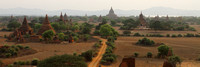Ayerawaddy river and the Bagan Temples