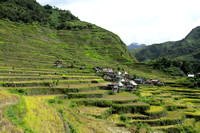 Batad village and the amphitheater rice terraces surrounding it