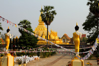 The calm Phat That Luang in Vientiane, Laos
