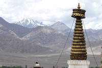 A typical Ladakh summer landscape as seen from the top of Shey Palace