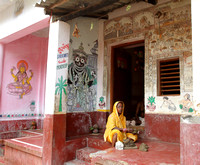 Intricate paintings on every home wall at Raghurajpur village, Odisha