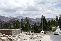 Thiksey monastery as seen from the Leh - Thiksey highway