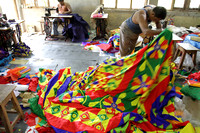 Riot of colors inside a Chandua workshop at Pipili, Odisha
