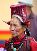 Local lady decked in traditional attire at Hemis Monastery festival 2016