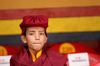 A young Buddhist monk attending the Hemis Monastey Festival 2016