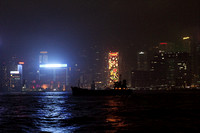 Hong Kong Night Skyline from the Harbour