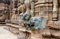 Walking along the Chaya Devi sanctuary of Sun temple, Konark, Odisha