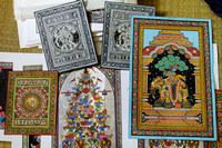 Raghurajpur Pattachitra in different forms, colors and depicting different stories