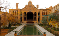 Borujerdis House courtyard - one of the finest traditional Persian houses of Kashan